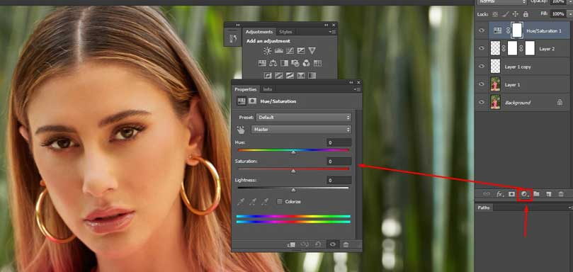 use-adjustment-layer-and-hue-saturation-to-control-eye-color